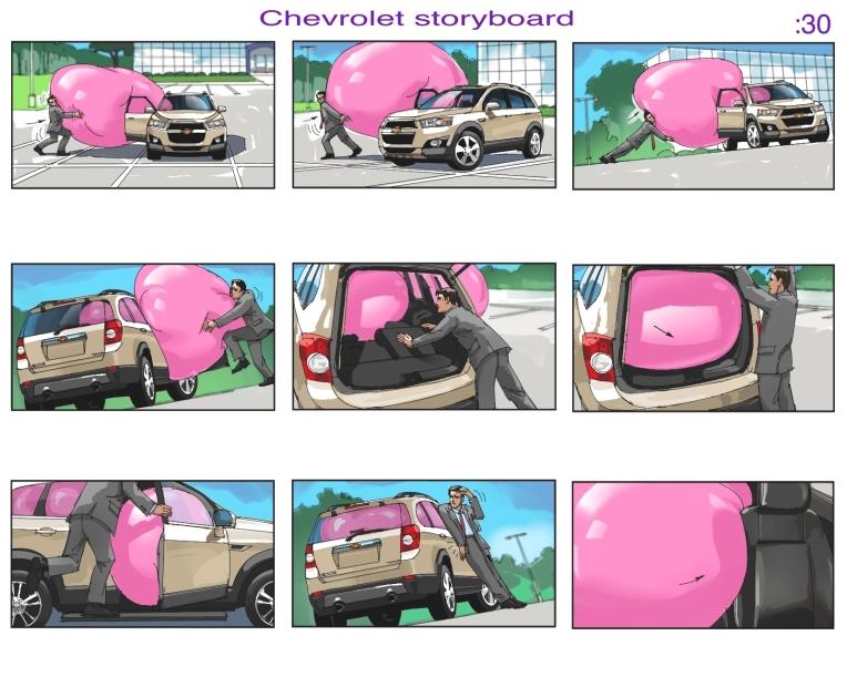 chevrolet storyboard
