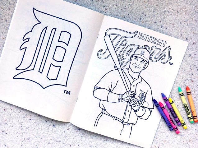 Detroit Tigers, coloring book, Crayola