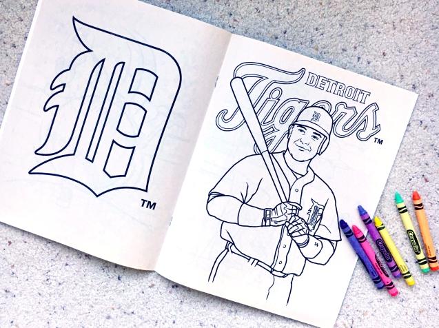 Detroit Tigers, coloring book, Crayola