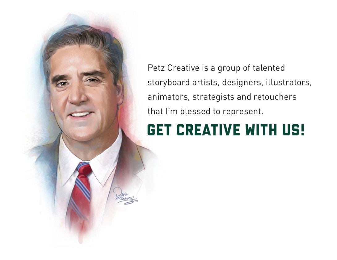 Petzcreative, Storyboards, design, illustrations, company, retouching, animation, artwork, artist rep, creativity, creative