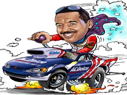 Caricature, portrait, racing, drag racing, race car, drag racing