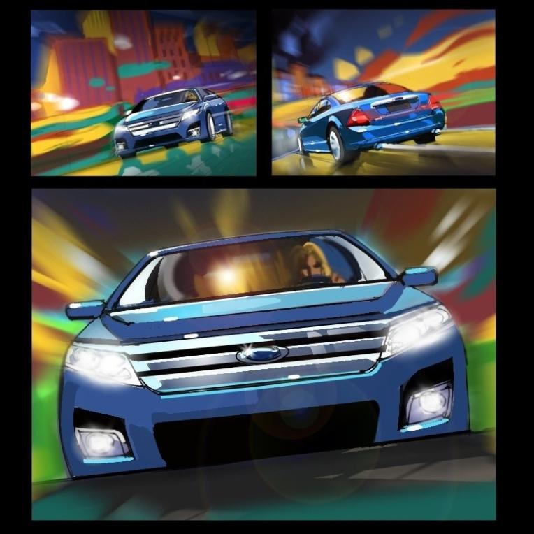 Ford hybrid, storyboard, storyboard