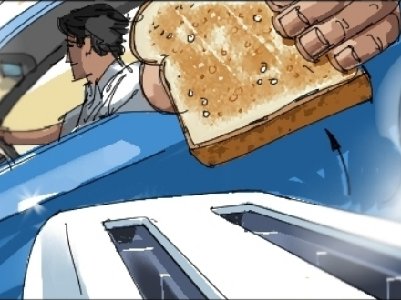 Chevy Spark, storyboard, toaster, storyboard