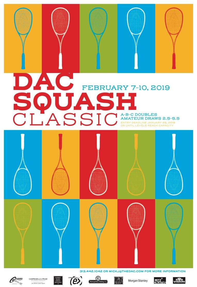 DAC, Detroit, Squash, Squash Classic, Design, Poster