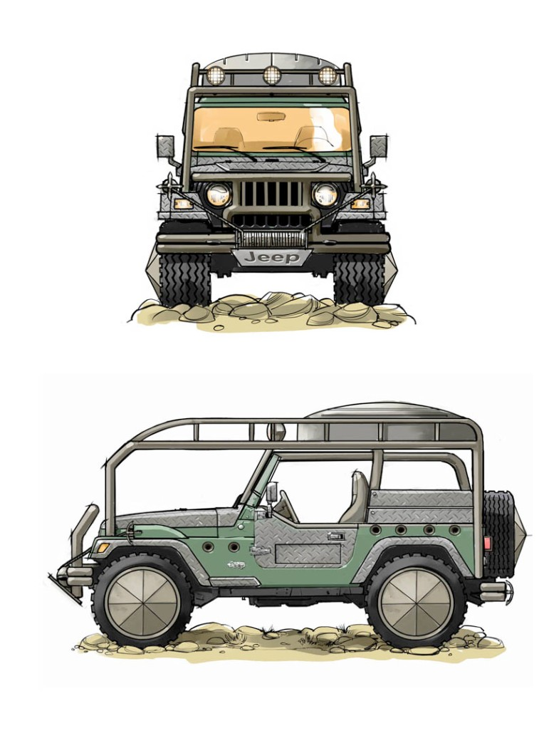 Jeep, outback, concept, back road