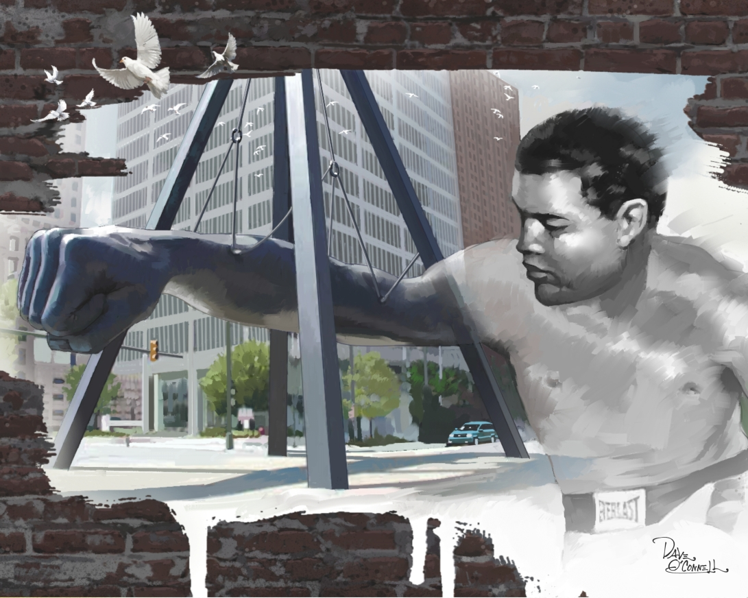 Joe louis, boxing, doves, Detroit, fist