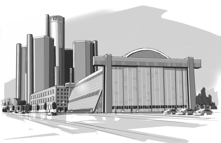 Detroit, Downtown Detroit, Concept, GM